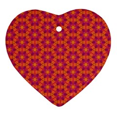 Pattern Abstract Floral Bright Ornament (heart)
