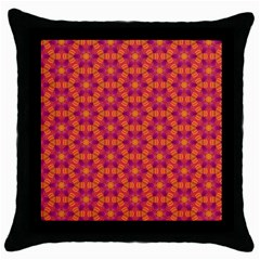 Pattern Abstract Floral Bright Throw Pillow Case (black)