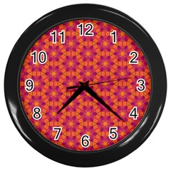 Pattern Abstract Floral Bright Wall Clocks (Black)
