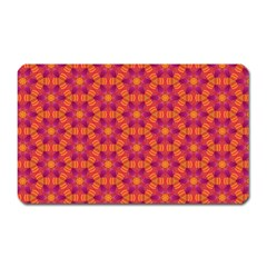 Pattern Abstract Floral Bright Magnet (rectangular)