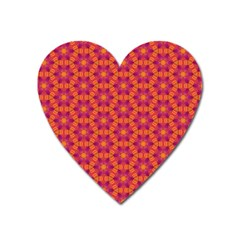 Pattern Abstract Floral Bright Heart Magnet