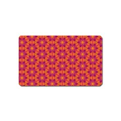 Pattern Abstract Floral Bright Magnet (name Card)