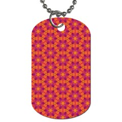Pattern Abstract Floral Bright Dog Tag (One Side)