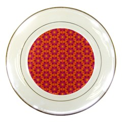 Pattern Abstract Floral Bright Porcelain Plates
