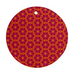 Pattern Abstract Floral Bright Round Ornament (Two Sides)