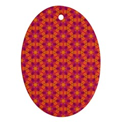 Pattern Abstract Floral Bright Oval Ornament (Two Sides)