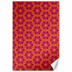 Pattern Abstract Floral Bright Canvas 24  x 36