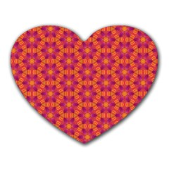 Pattern Abstract Floral Bright Heart Mousepads