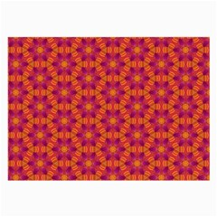 Pattern Abstract Floral Bright Large Glasses Cloth