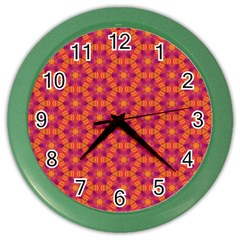 Pattern Abstract Floral Bright Color Wall Clocks