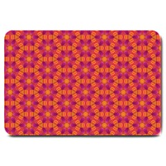 Pattern Abstract Floral Bright Large Doormat