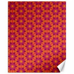 Pattern Abstract Floral Bright Canvas 11  X 14