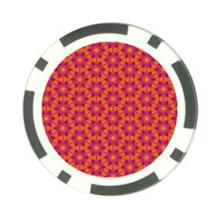 Pattern Abstract Floral Bright Poker Chip Card Guard