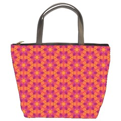 Pattern Abstract Floral Bright Bucket Bags