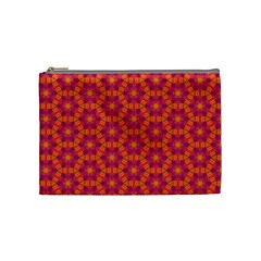 Pattern Abstract Floral Bright Cosmetic Bag (Medium)