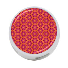 Pattern Abstract Floral Bright 4-Port USB Hub (One Side)