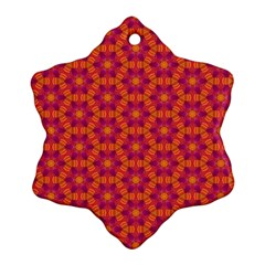 Pattern Abstract Floral Bright Snowflake Ornament (Two Sides)