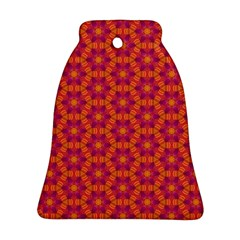 Pattern Abstract Floral Bright Bell Ornament (Two Sides)