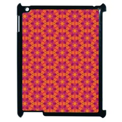 Pattern Abstract Floral Bright Apple iPad 2 Case (Black)