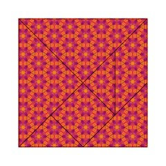 Pattern Abstract Floral Bright Acrylic Tangram Puzzle (6  x 6 )