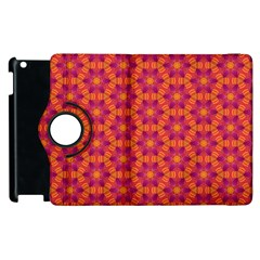 Pattern Abstract Floral Bright Apple iPad 3/4 Flip 360 Case