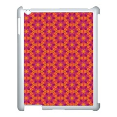 Pattern Abstract Floral Bright Apple Ipad 3/4 Case (white)