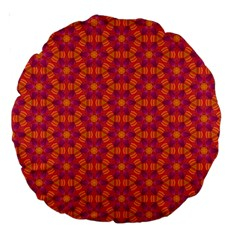Pattern Abstract Floral Bright Large 18  Premium Round Cushions