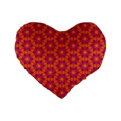 Pattern Abstract Floral Bright Standard 16  Premium Heart Shape Cushions