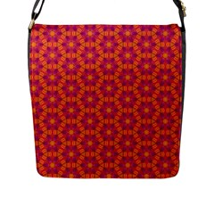 Pattern Abstract Floral Bright Flap Messenger Bag (L)