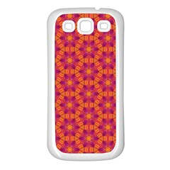 Pattern Abstract Floral Bright Samsung Galaxy S3 Back Case (white)