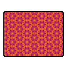 Pattern Abstract Floral Bright Double Sided Fleece Blanket (Small)