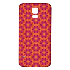 Pattern Abstract Floral Bright Samsung Galaxy S5 Back Case (White)