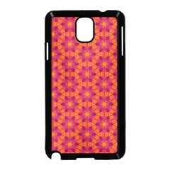 Pattern Abstract Floral Bright Samsung Galaxy Note 3 Neo Hardshell Case (Black)
