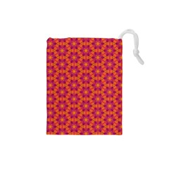 Pattern Abstract Floral Bright Drawstring Pouches (Small)