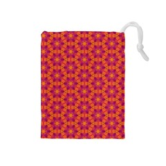 Pattern Abstract Floral Bright Drawstring Pouches (medium)