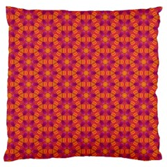 Pattern Abstract Floral Bright Standard Flano Cushion Case (Two Sides)