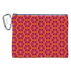 Pattern Abstract Floral Bright Canvas Cosmetic Bag (xxl)