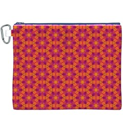Pattern Abstract Floral Bright Canvas Cosmetic Bag (xxxl)