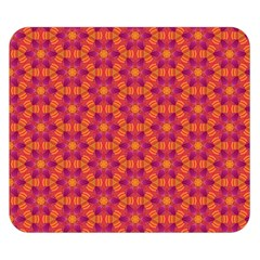 Pattern Abstract Floral Bright Double Sided Flano Blanket (Small)