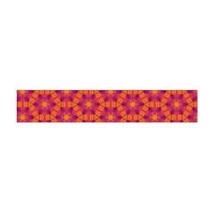 Pattern Abstract Floral Bright Flano Scarf (Mini)
