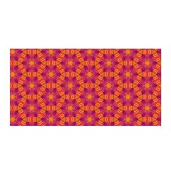 Pattern Abstract Floral Bright Satin Wrap