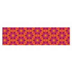 Pattern Abstract Floral Bright Satin Scarf (Oblong)