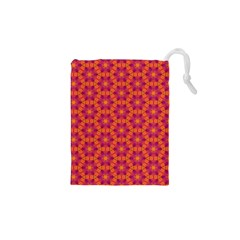 Pattern Abstract Floral Bright Drawstring Pouches (XS)