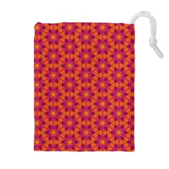 Pattern Abstract Floral Bright Drawstring Pouches (Extra Large)