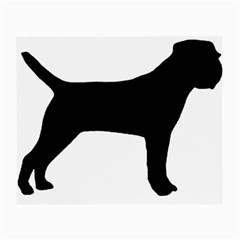 Border Terrier Silhouette Small Glasses Cloth (2-Side)