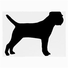 Border Terrier Silhouette Large Glasses Cloth (2-Side)