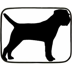 Border Terrier Silhouette Double Sided Fleece Blanket (Mini)