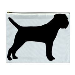 Border Terrier Silhouette Cosmetic Bag (XL)