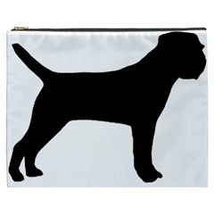 Border Terrier Silhouette Cosmetic Bag (XXXL)