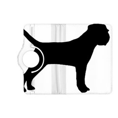 Border Terrier Silhouette Kindle Fire HD (2013) Flip 360 Case